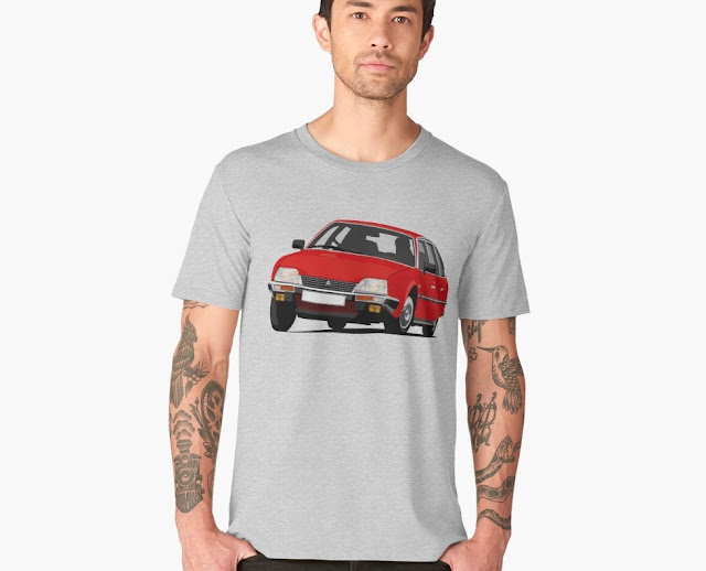 Red Citroën CX 2400 GTi t-shirt