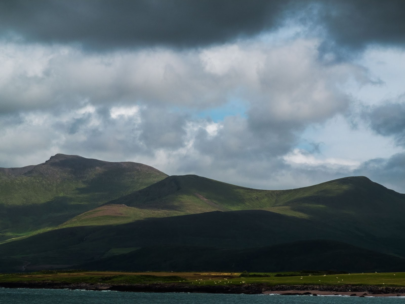 Mountains landcape of the Dingle Peninsula in County Kerry.