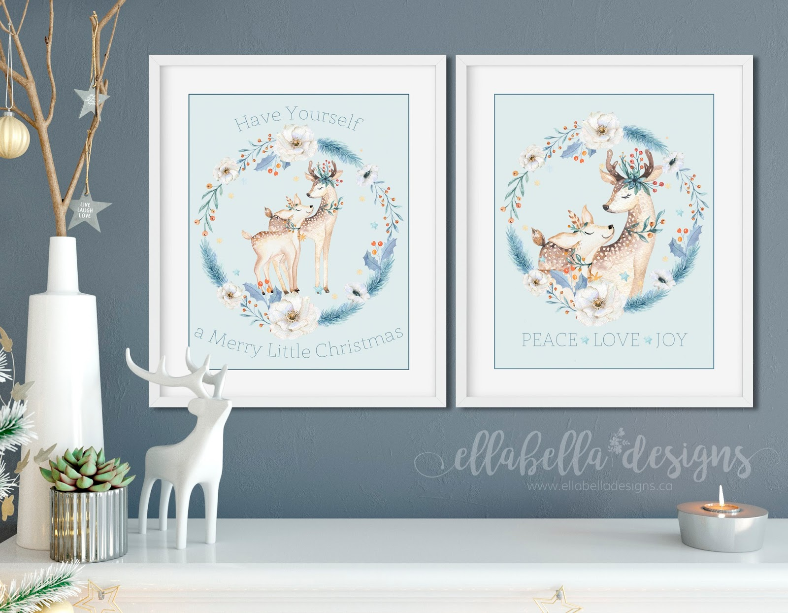 ellabella designs free christmas wall art decor printables. Black Bedroom Furniture Sets. Home Design Ideas