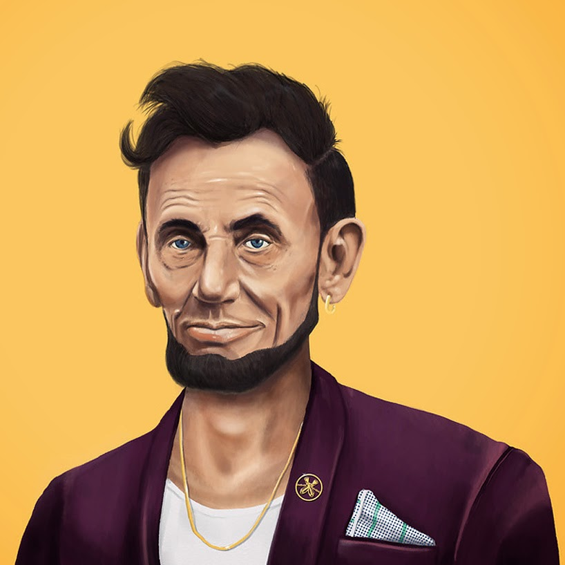 caricaturas de famosos, hipsters