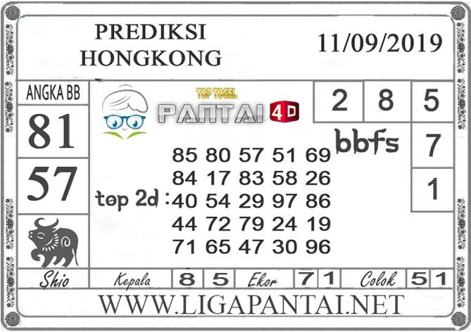 """PREDIKSI TOGEL """"HONGKONG"""" PANTAI4D 11 SEPTEMBER 2019"""