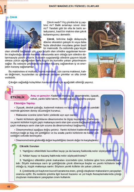 Öğün Yayınları 8. Sınıf Fen Bilimleri Ders Kitabı Cevapları Sayfa 48