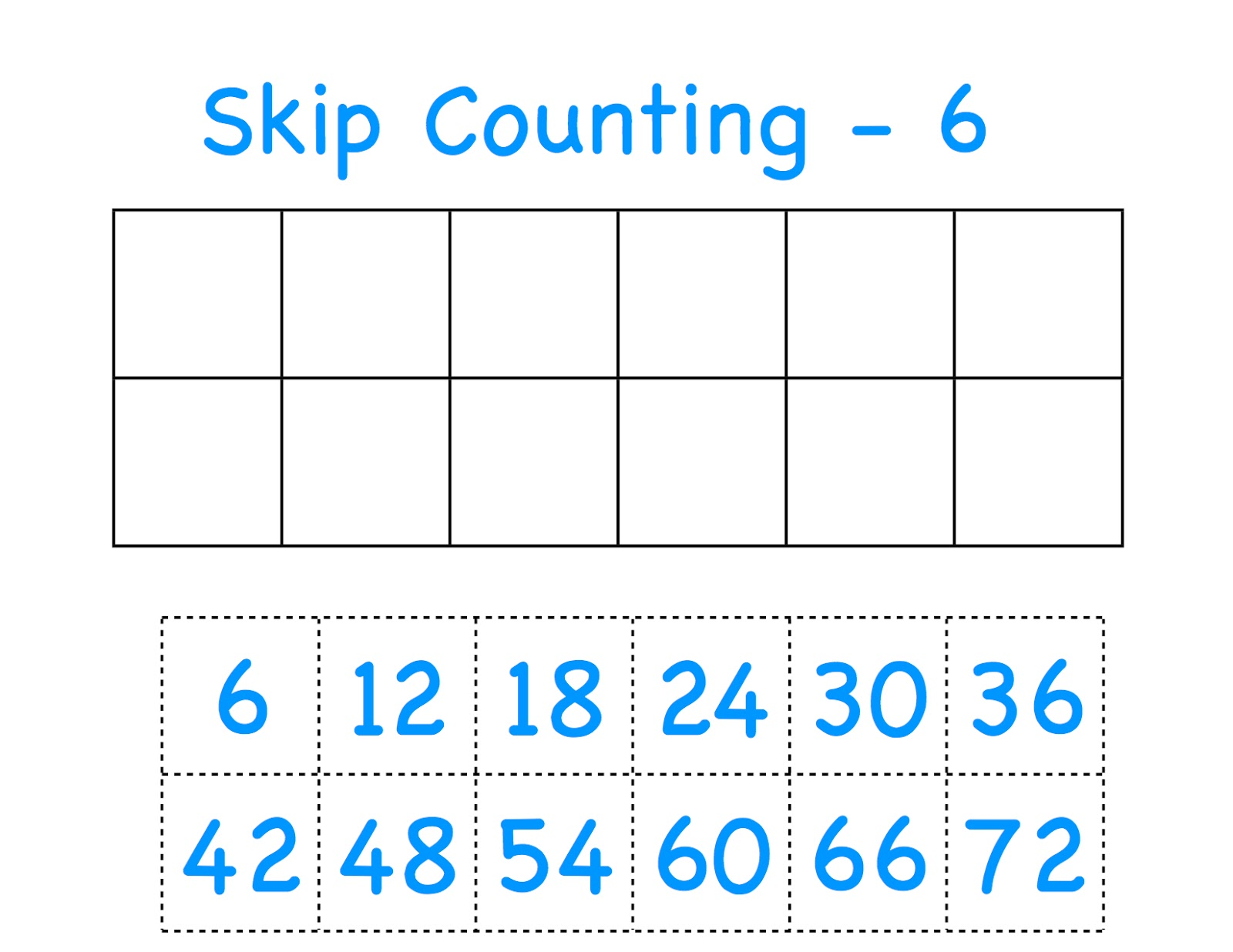 CC C2W3 skip counting the 5's and 6's Homeschool math
