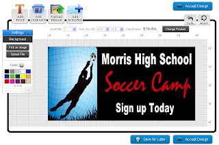 Soccer Banner Template in the Online Designer