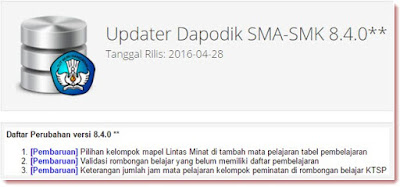Update Aplikasi Dapodik SMA SMK ke Versi 8.4.0**