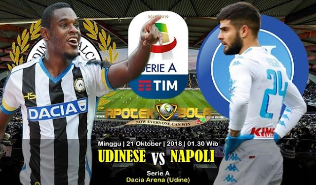 Prediksi Udinese Vs Napoli 21 Oktober 2018