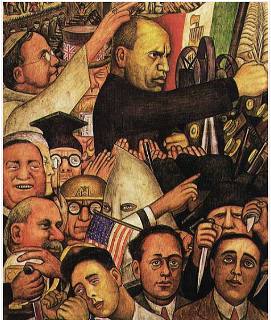 Mussolini - Diego Rivera's Mural for the New Worker's School, New York City
