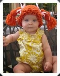 Tığ işi Saç Şeklinde Bebek Bere Modelleri 2