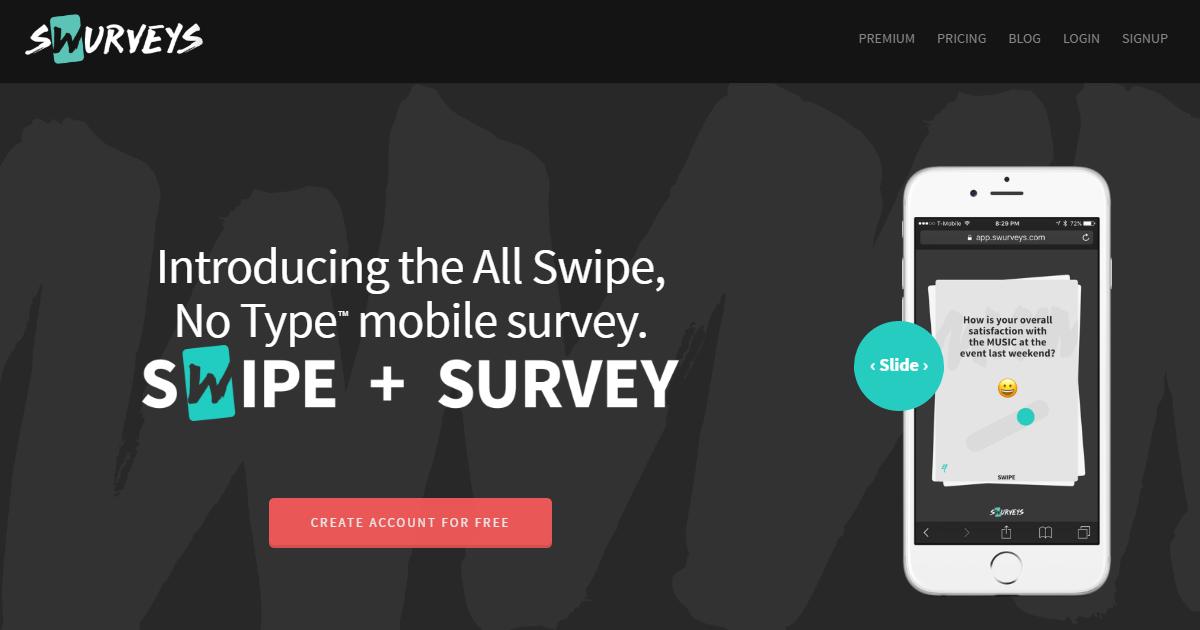 專為手機設計的問卷調查表: Swurveys 填表只需滑動不必點擊