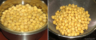 Kabuli chana usli -step 1 and 2