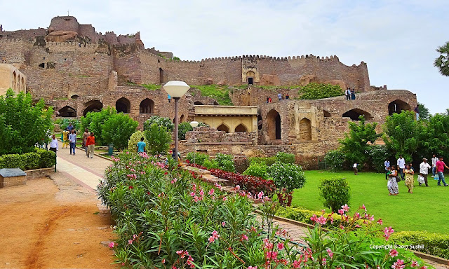 Golkonda Fort view from down the Hill, Hyderabad