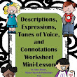 Pragmatics (Descriptions, Feelings, Connotations and Registers of Language) Mini-Lesson and FREEBIE!