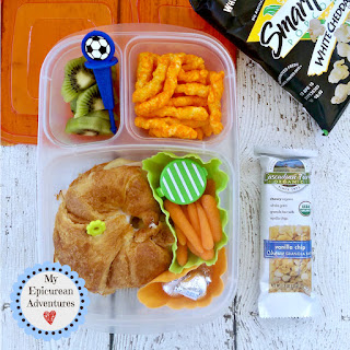 My Epicurean Adventures: Lunch Box Fun 2015-16: Weeks #23-28. Lunch box ideas, school lunch ideas, lunches, croissant sandwich