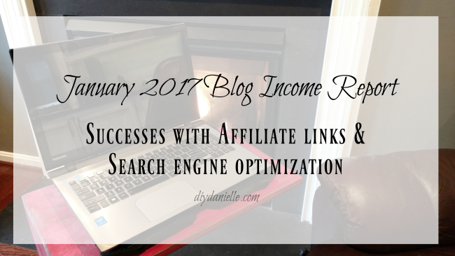 Blog Income Report for January 2017 on a Blogspot blog.