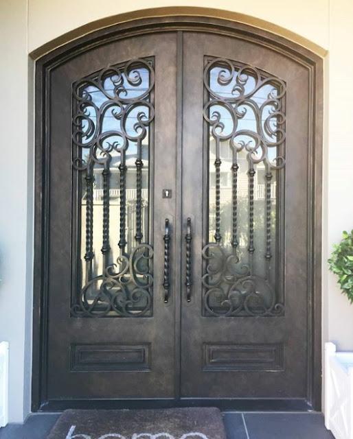 model pintu besi minimalis modern terbaru