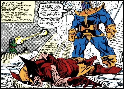 Image result for wolverine vs thanos