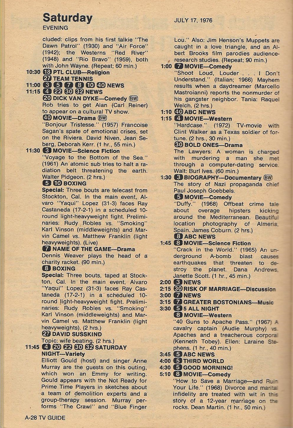 another old movie blog: tv guide - 1976 - the search for classic films
