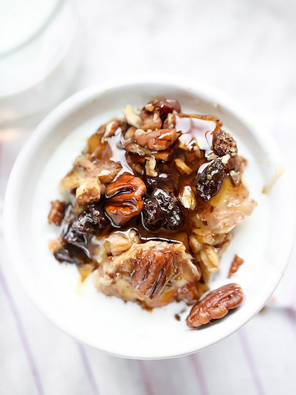 Slow Cooker Baked Oatmeal With Bananas And Nuts- Muddlex