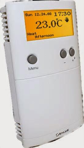 Thermostat Salus sans fil programmable pour plancher chauffant sec mince