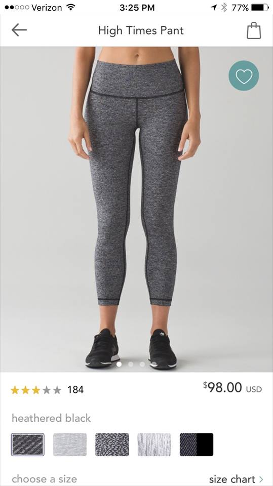 lululemon high-times heathered-black