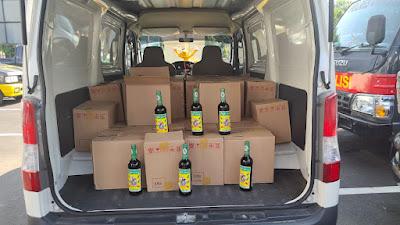 Ratusan Botol Minuman Beralkohol  Berhasi Diamankan Team Jawara di Terminal Seruni