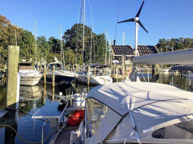 Hallberg-Rassy 37, solar panels, wind generator