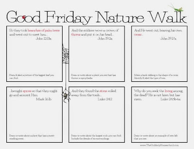 The Unlikely Homeschool: Good Friday Nature Walk {FREE