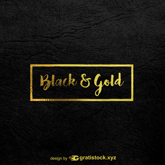 Free Download PSD Typography Logos Of Black & Gold Texture.
