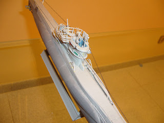maqueta revell a escala 1:144 del submarino alemán VIIC
