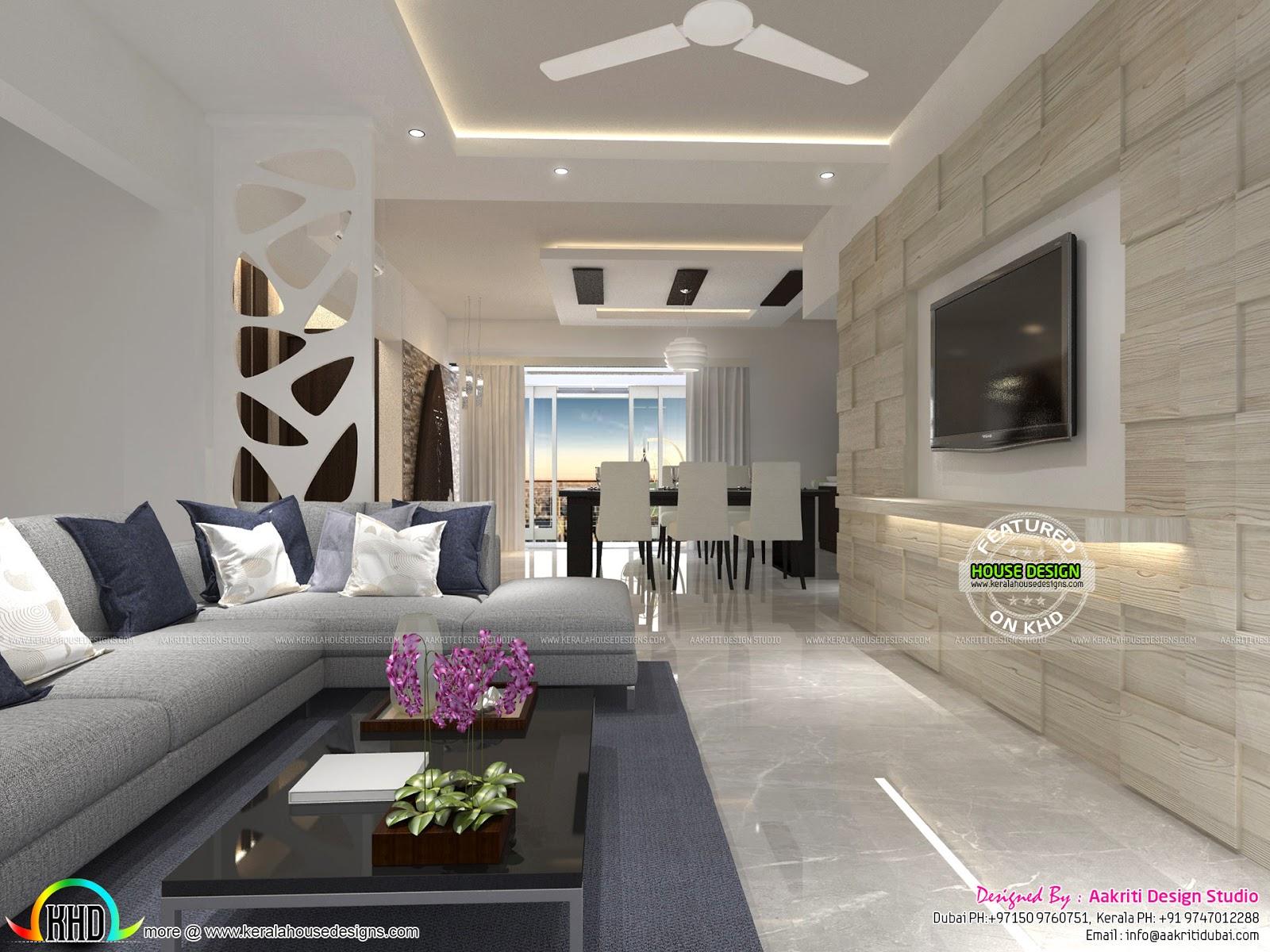 Flat Interior Designs In Kerala Kerala Home Design And