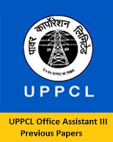 UPPCL Office Assistant III Previous Papers