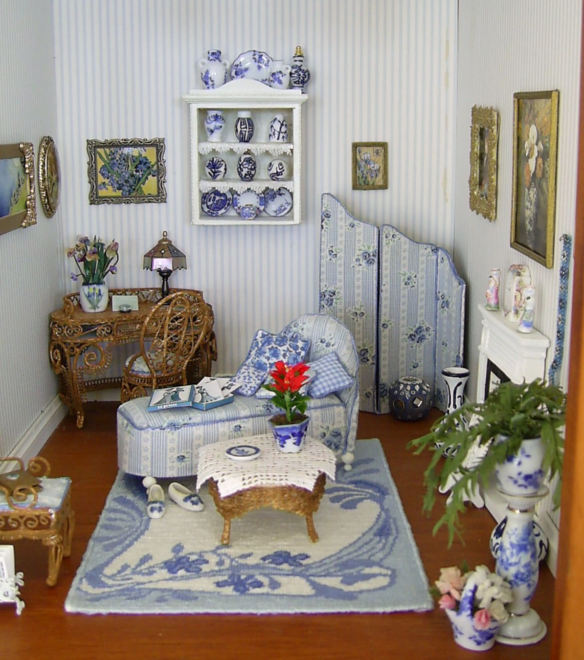 Dollhouse Miniature Roombox Sitting Room: Dolls Houses And Minis: Edwardian Dolls House: The Morning