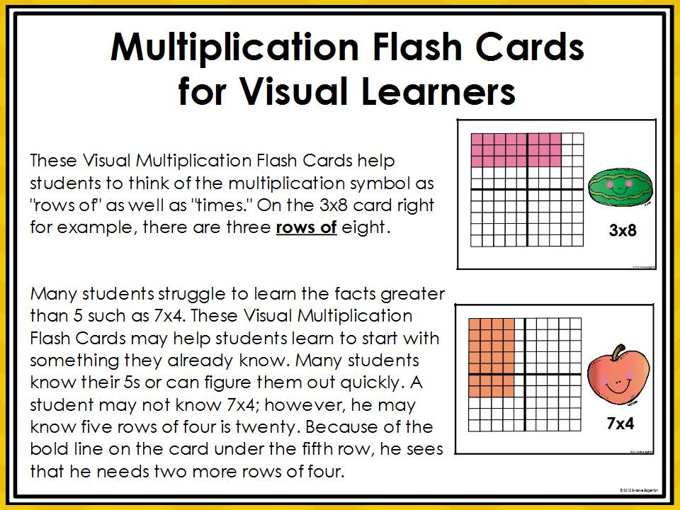 tales from a fourth grade mathnut flash cards for visual learners. Black Bedroom Furniture Sets. Home Design Ideas