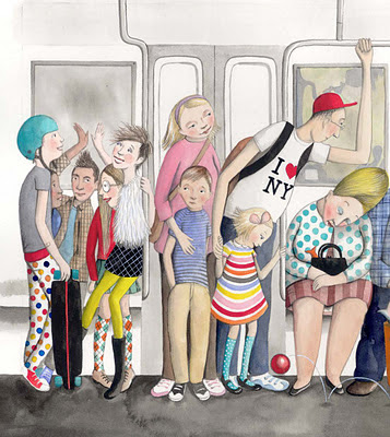 Sophie Blackall: Poster on the New York Subway