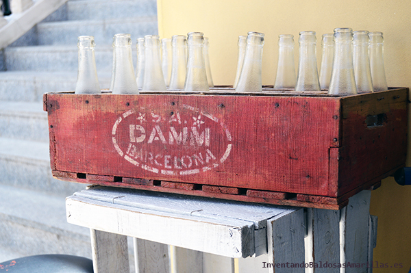 Caja para guardar botellas vintage