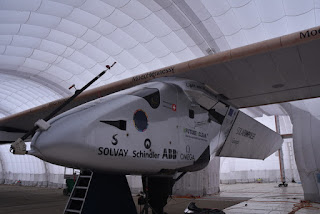 View from cockpit to tail, Solar Impulse 2