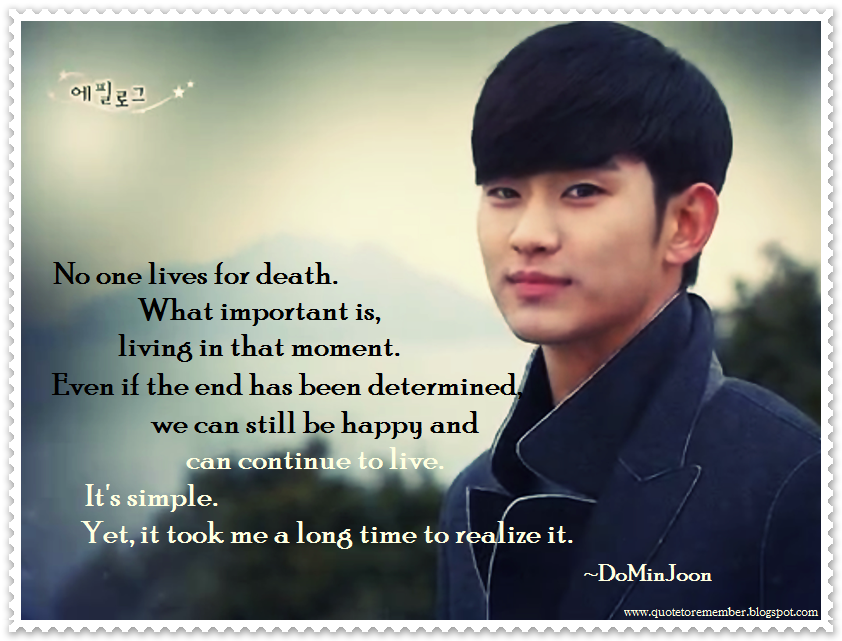 Quote To Remember My Love From Another Star Aka You Who Came From