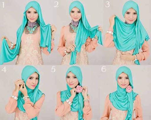 kreasi jilbab pashmina modern