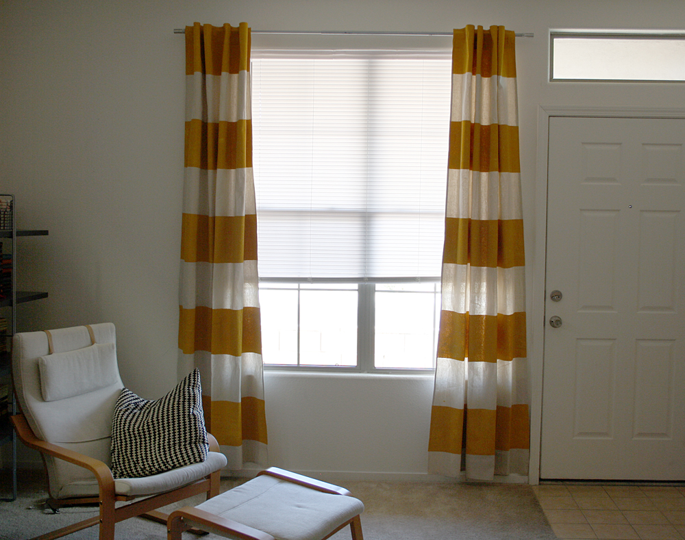 Painted Canvas Curtains DIY