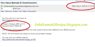 Komisen Pertama Bulan Ogos, Jobdirumah,