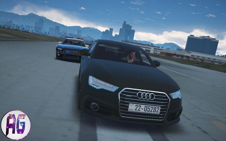 مجسم سيارة Audi A6 2015 مود في لعبة Gta V