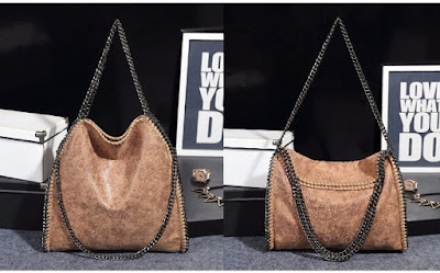 Fashion Women PU Leather Chain Woven Messenger Shoulder Bag