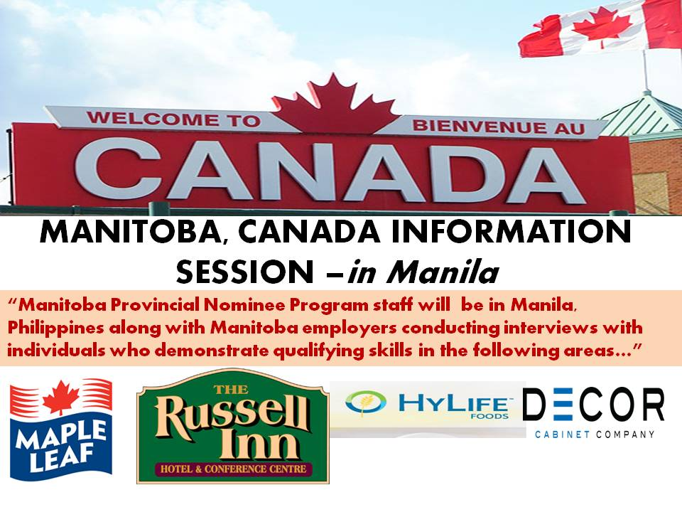 Manitoba Information Session In Manila Interviewing With