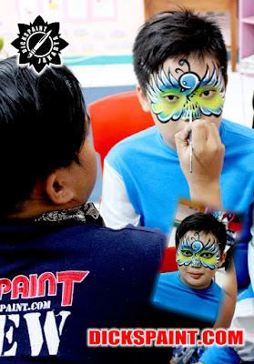 face painting bird kids jakarta