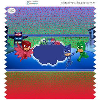 Etiquetas de Super héroes en Pijamas para imprimir gratis.