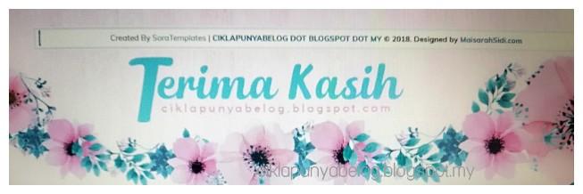 Penampilan terbaru blog. Saya suka!