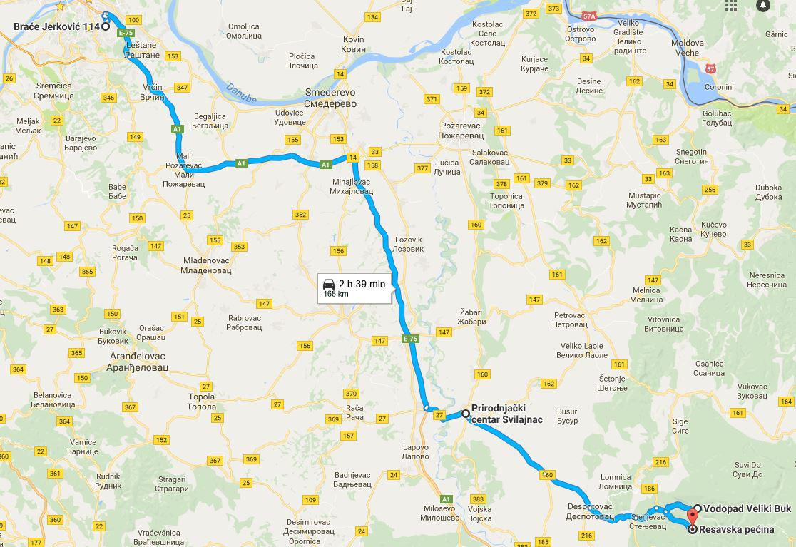 resavska beograd mapa VIKEND PUTOVANJE   SVILAJNAC i DESPOTOVAC resavska beograd mapa