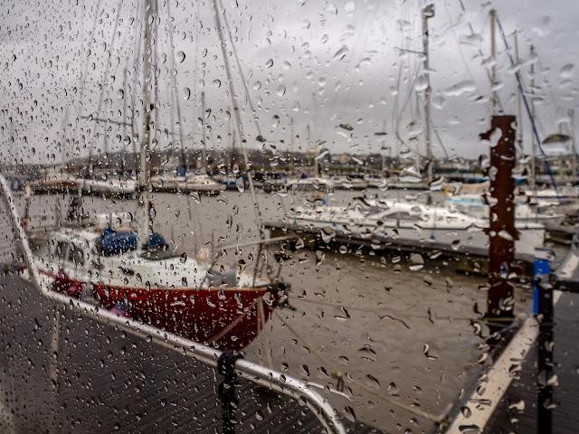 Phot of wet Wednesday at Maryport Marina