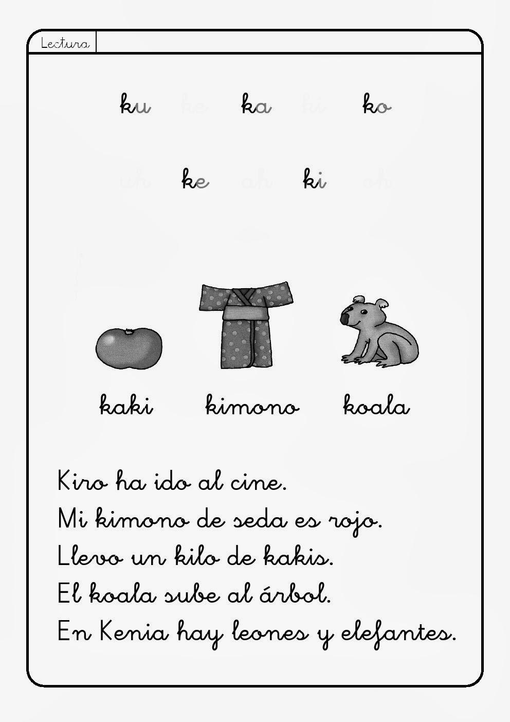Letra K K La Eduteca