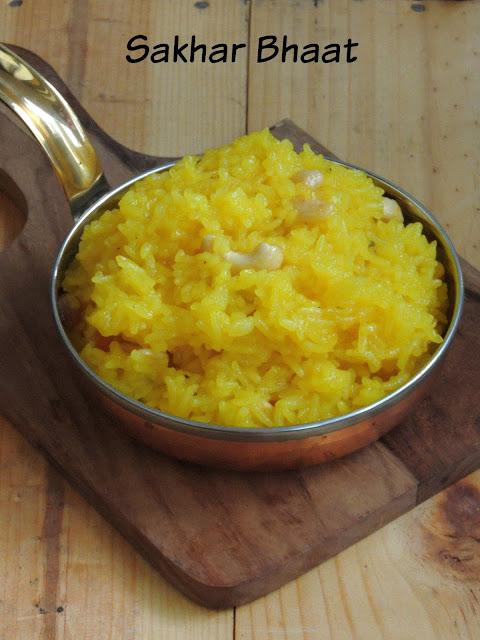 Sakhar Bhaat, Maharashtrian Sweet Rice